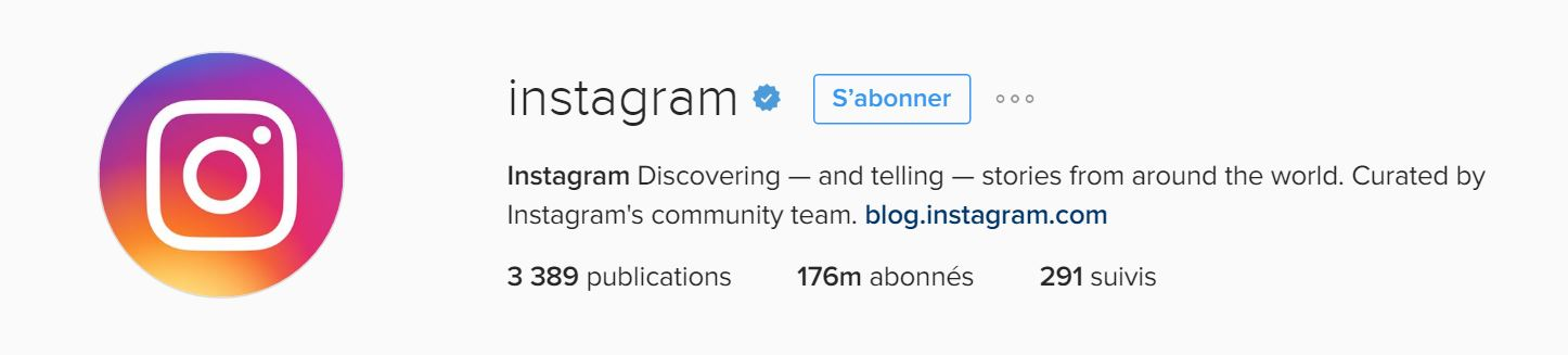 Badge de compte vérifié Instagram